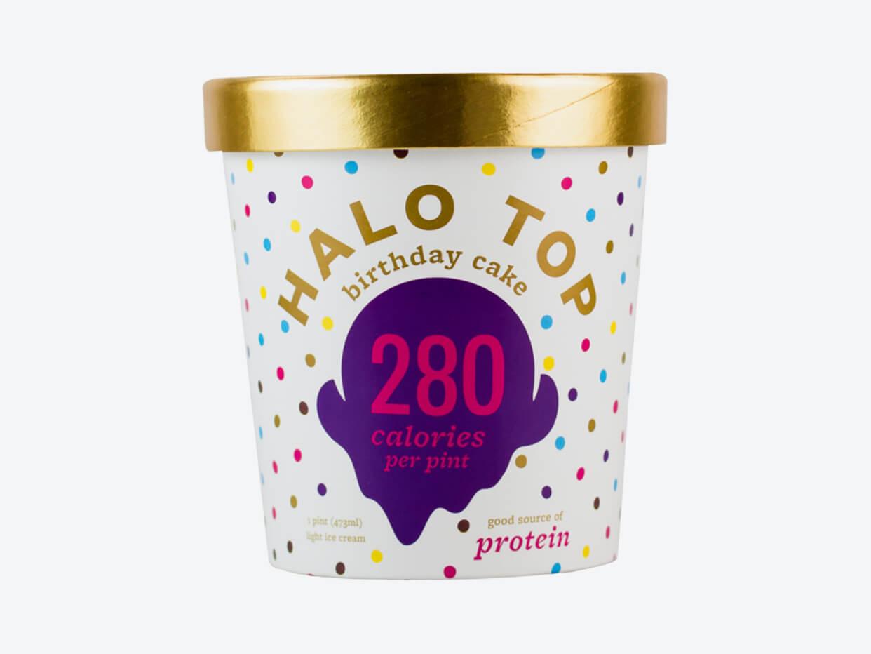 Halo Top Ice Cream - Birthday Cake