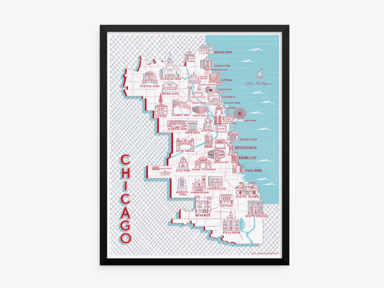 Cape Horn Illustration - Map of Landmarks