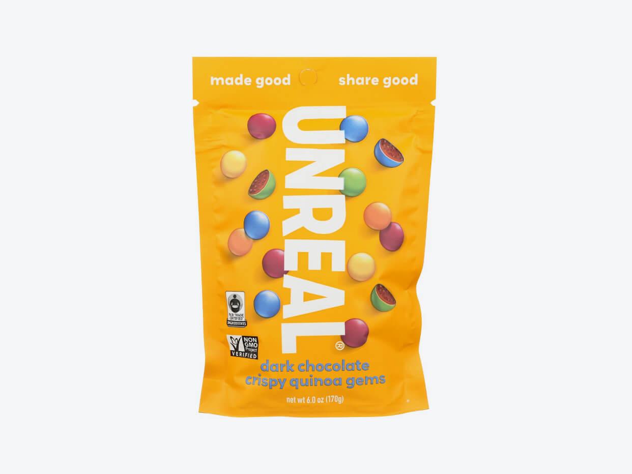 Unreal Candy Coated Gems - Crispy Dark Chocolate