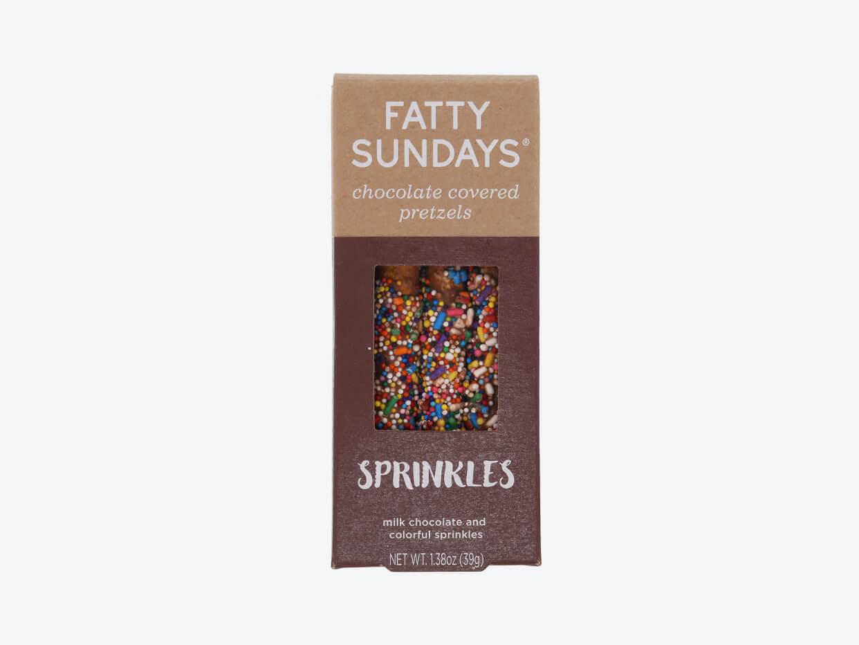 Fatty Sundays Chocolate Covered Pretzels - Sprinkles