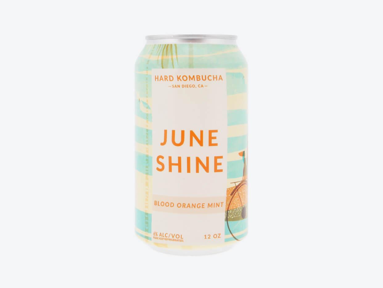 Juneshine Hard Kombucha - Blood Orange Mint - 6pk