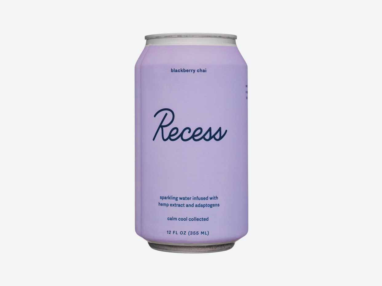 Recess CBD Sparkling Water - Blackberry Chai