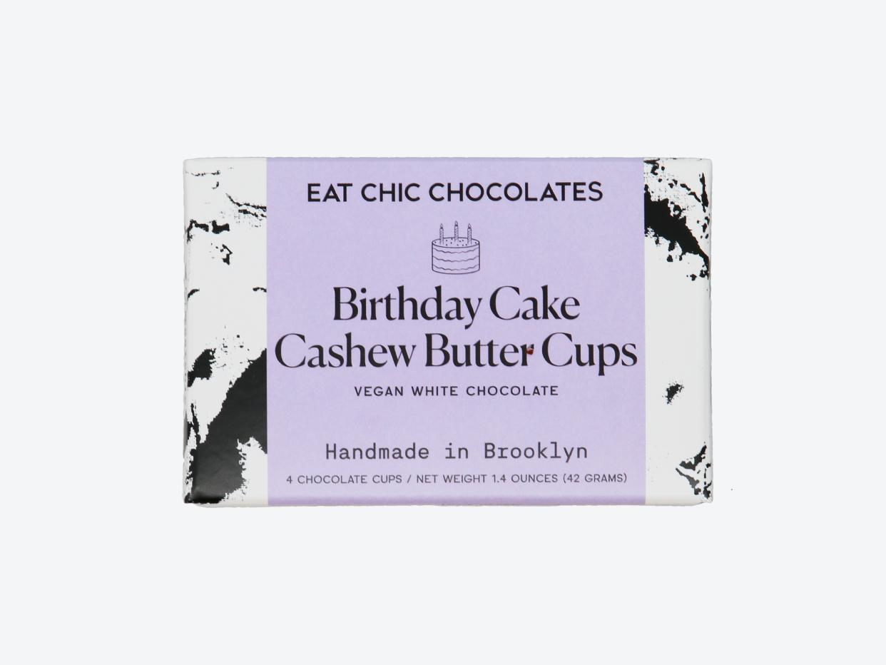Eat Chic Chocolates - White Chocolate Birthday Cake Cashew Butter Cups