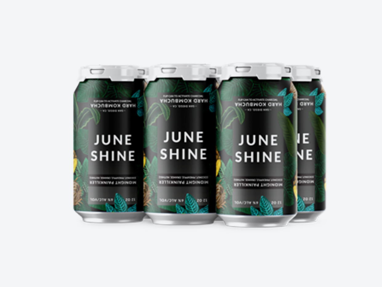 Juneshine Hard Kombucha - Midnight Painkiller