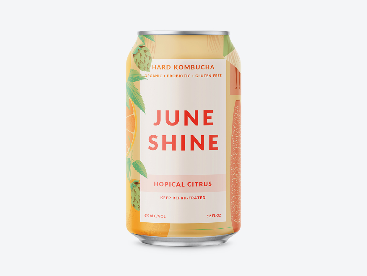 Juneshine Hard Kombucha - Hopical Citrus