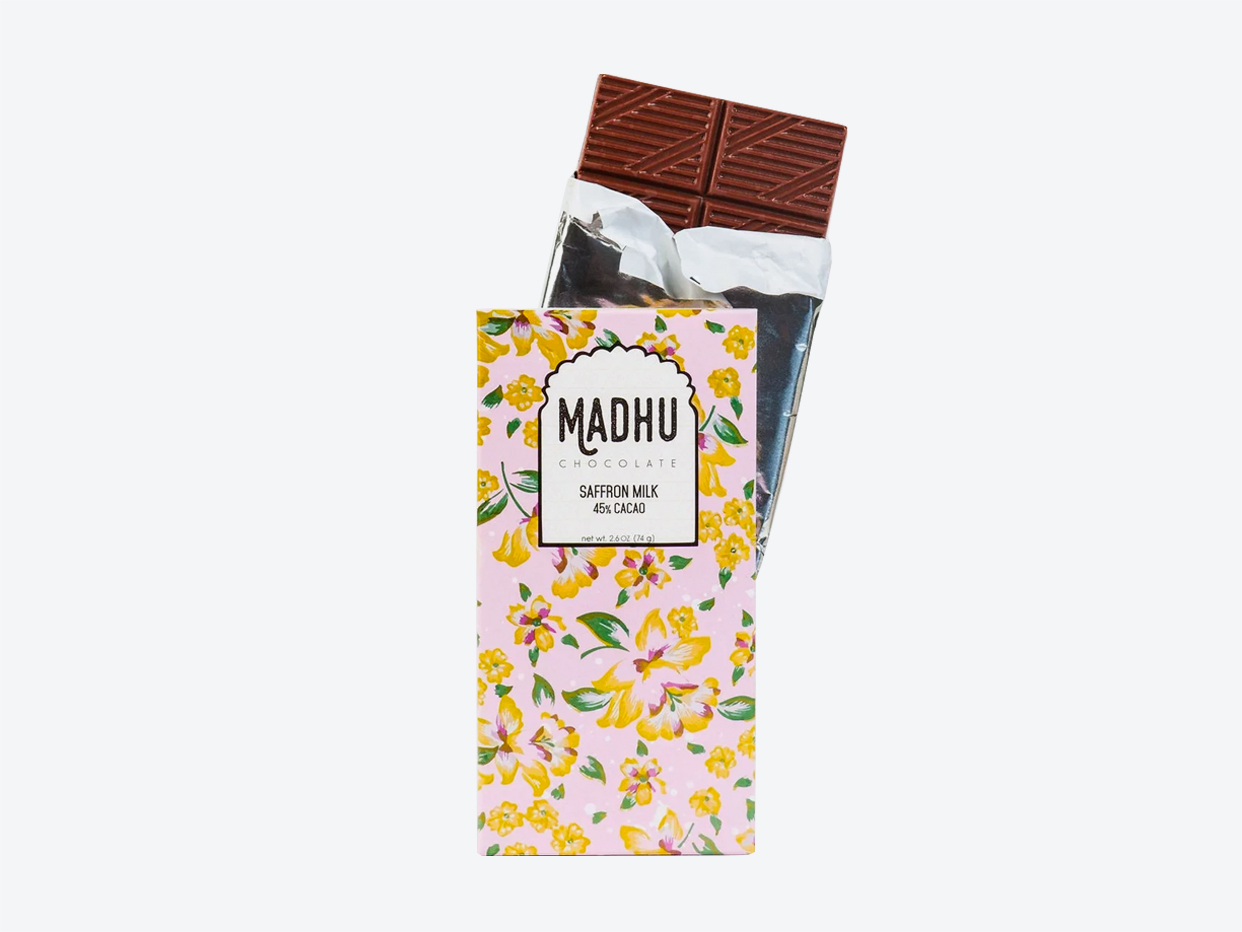 Madhu Chocolate: Saffron Milk - 45% cacao