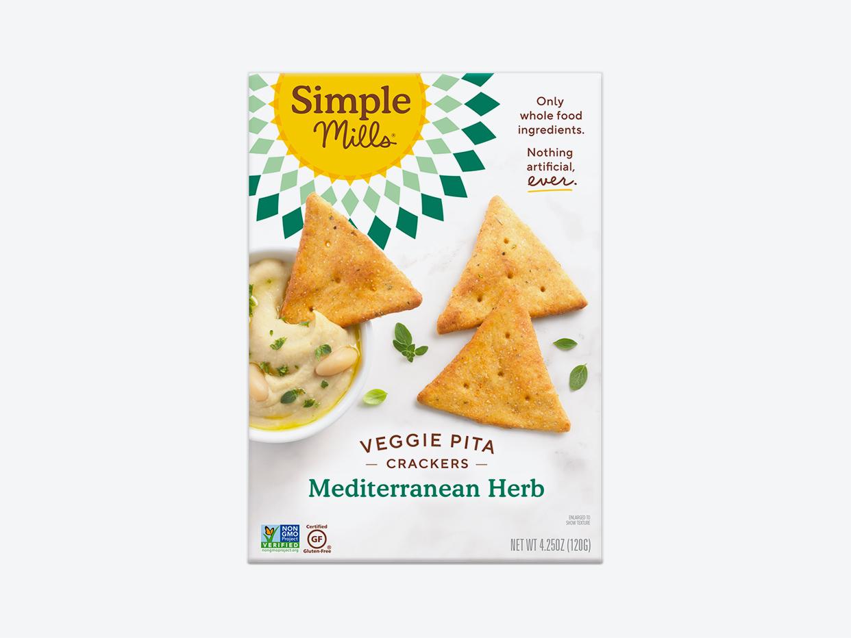 Simple Mills Pita Crackers -  Mediterranean Herb