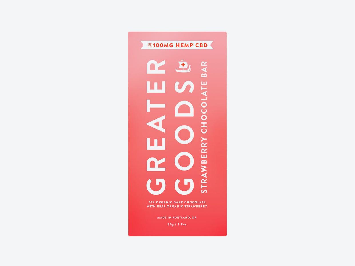 Greater Goods - Strawberry Chocolate CBD Bar