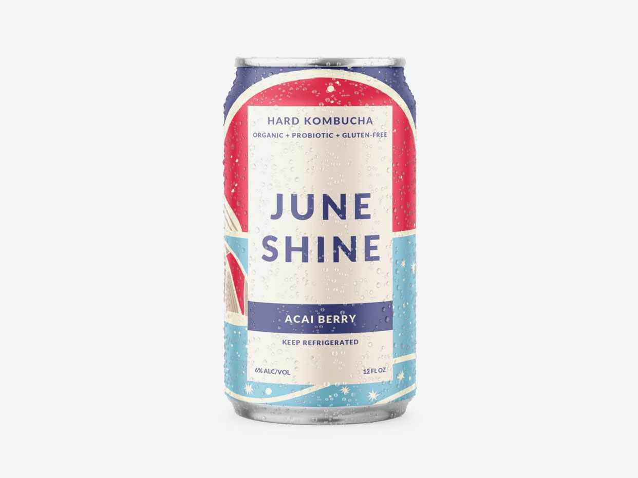 Juneshine Hard Kombucha - Açaí Berry 6pk