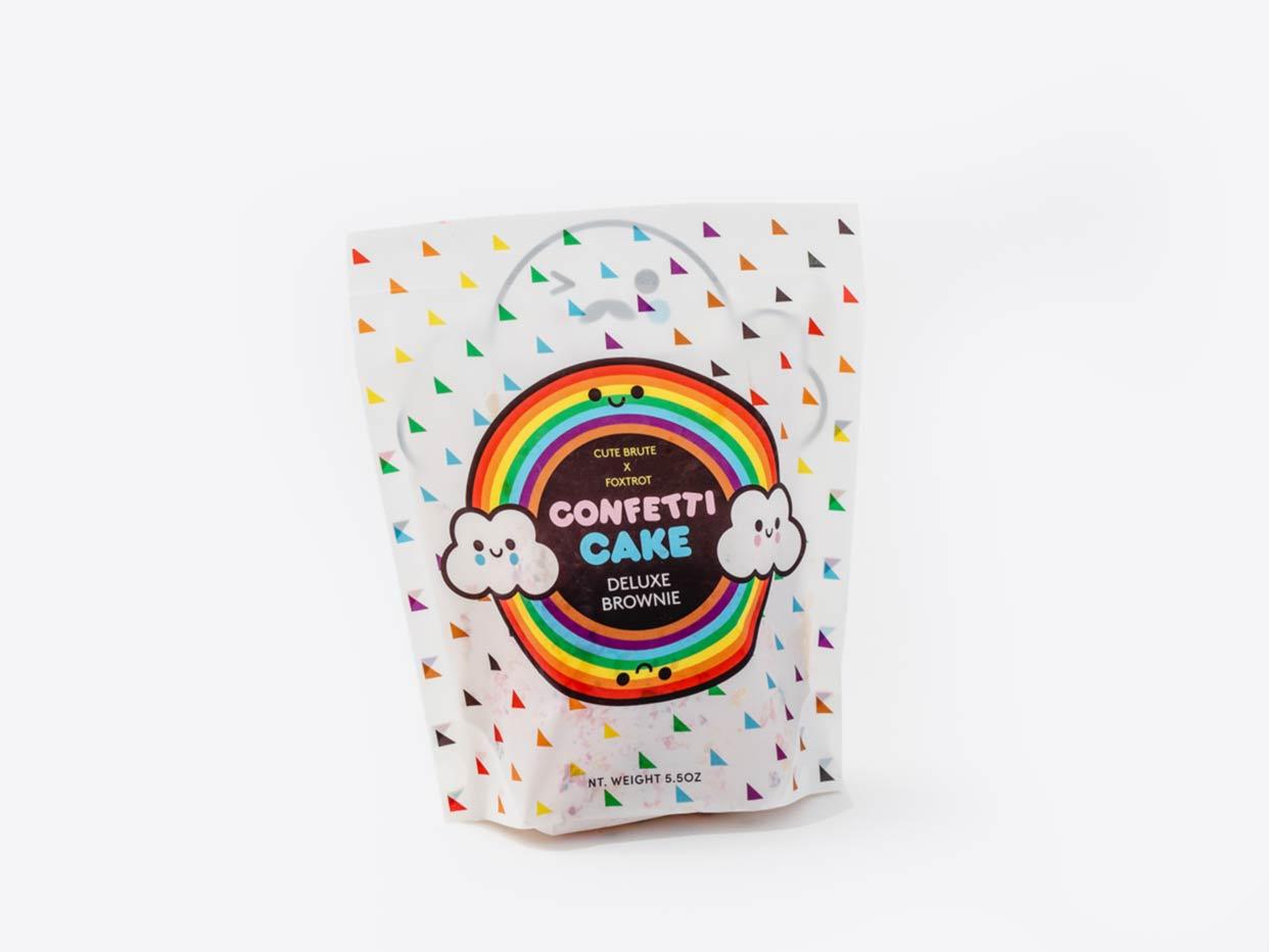 Foxtrot x Cute Brute Confetti Cake Brownie